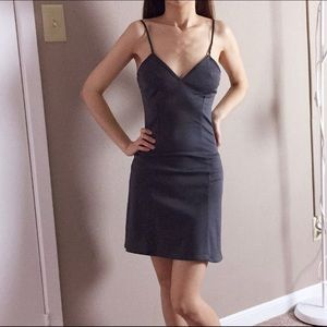 Gray Slip dress - vintage